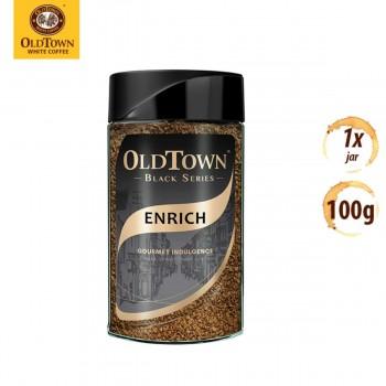 OLDTOWN White Coffee Black Series Enrich Freeze Dried Instant Soluble Coffee (100g x 1 Jar)