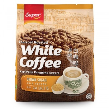 Super Charcoal Roasted 3 in 1 White Coffee Brown Sugar (Item no: E01-42)
