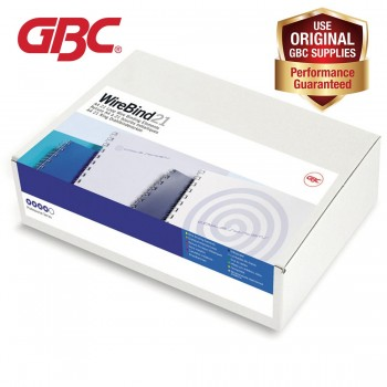 GBC WireBind 21 Loops - 8mm, A4, 62 Sheets, White