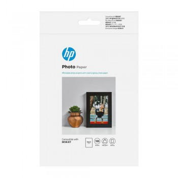 HP Glossy Photo Paper-100 sht/10 x 15 cm