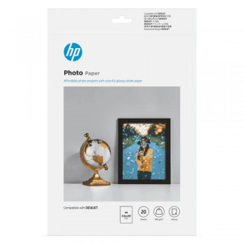 HP Glossy Photo Paper-20 sht/210 x 297 mm/A4