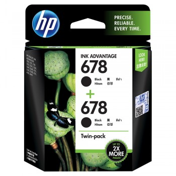 HP 678 2-pack Black Original Ink Advantage Cartridges (L0S23AA)