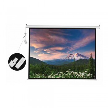 DP Screen Motorised Projector Screen Electric Projection Screen - Matte White Surface - DP-ELC-07 - Screen Ratio 6' x 6' - Screen Size 2130 x 2130mm