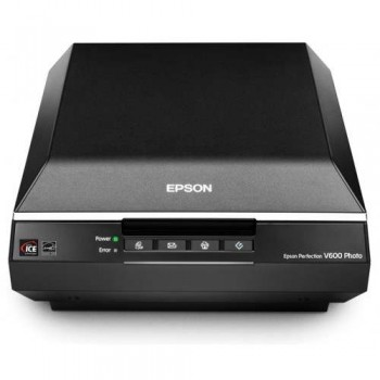 Epson Perfection V600 Photo — A4 Flatbed Scanner - 6400x9600dpi Black Powerful Digital ICE Technology