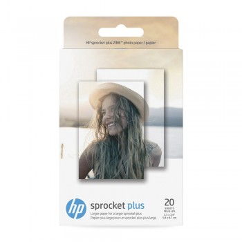 HP Sprocket Plus Photo Paper - 20 sticky-backed sheets, 2.3 x 3.4 inch