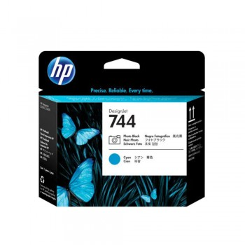 HP 744 Photo Black and Cyan Printhead