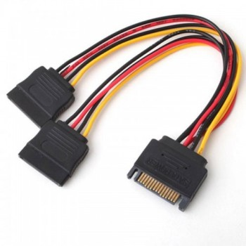 15 PIN (M) to 2x 15 PIN (F) Sata Power Cable Splitter (S087-SATA)