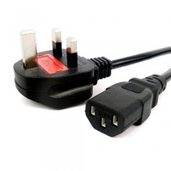 3 Pin Power Cord Cable with Fuse 3m