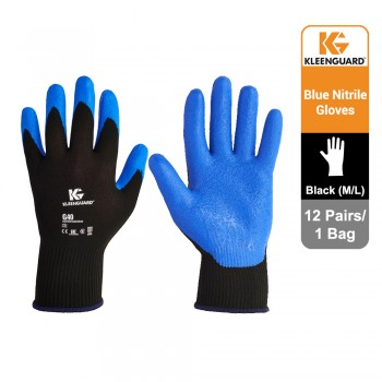 KleenGuard™ G40 Foam Coated Hand Specific Gloves - Black, 1x12 pairs (24 gloves) - 40227 (L)