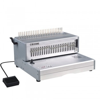 SUPU CB330E Electric Plastic Comb Punching & Manual Binding Machine