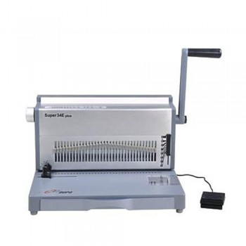SUPU Super34E Plus Electric Wire O Punching & Manual Binding Machine Type 3:1 pitch