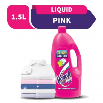 Vanish Fabric Stain Remover Liquid Pink 1.5L