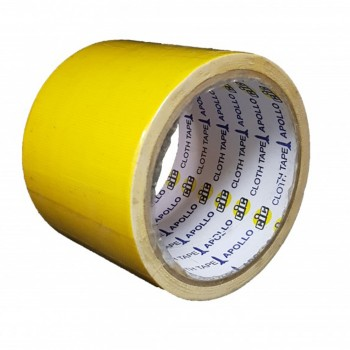 Apollo Premium Cloth Tape 24mm x 6yards Yellow