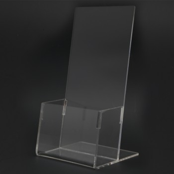 Acrylic 1/3 A4 Brochure Holder Stand 1 Layer - 99mm (W) x 297mm (H)