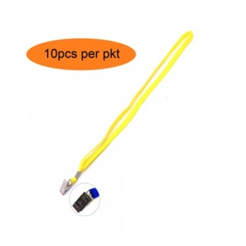 Yellow Cotton Lanyard with Clip - 10pcs/pkt