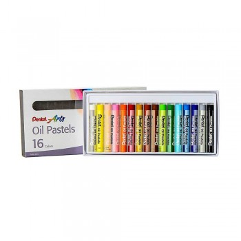 PENTEL ARTS OIL PASTELS 16 COLORS (PHN-16AS)