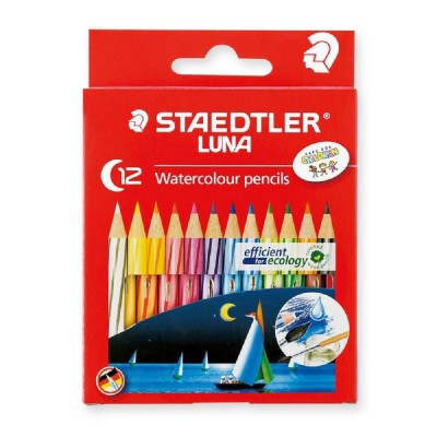 Staedtler Luna Watercolour Pencil-12 Colours - Half Length