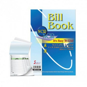 Bill Book with Numbering NCR 85 x 125mm 2ply x 30s (NCB3502)