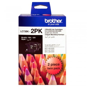 Brother LC-73 Black Twin Pack Ink Cartridge