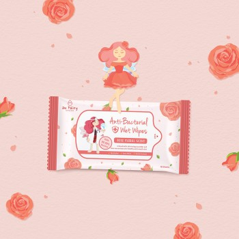 Aufairy Anti Bacterial Wipes - Rose Scent - 10pcs (4 in 1)
