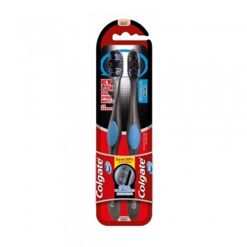 Colgate 360 Charcoal Spiral Toothbrush Value Pack Ultra Soft x 2 pcs