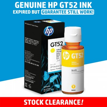 [100% GENUINE] HP GT52 Yellow Original Ink Bottle - Original HP Ink M0H56AA Ink Tank Bottle (8000 Pages)